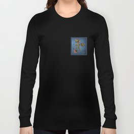 Denim Design With Jacobean Floral Long Sleeve T-shirt