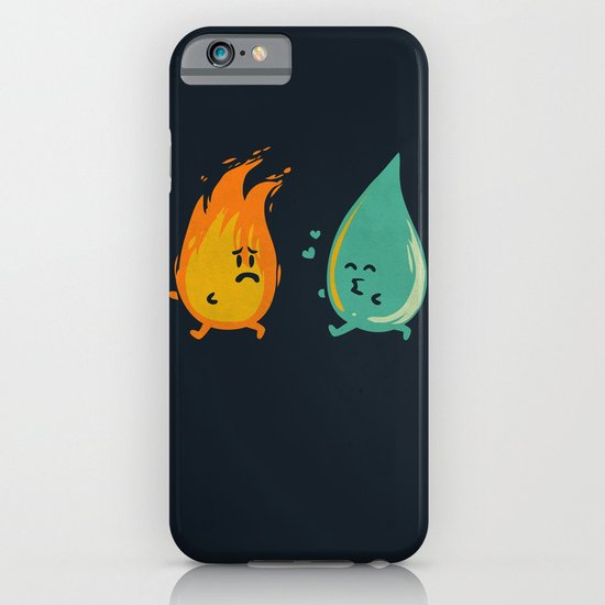 Impossible Love (fire and water kiss) iPhone & iPod Case