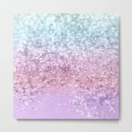 Unicorn Girls Glitter #4 #shiny #pastel #decor #art #society6 Metal Print