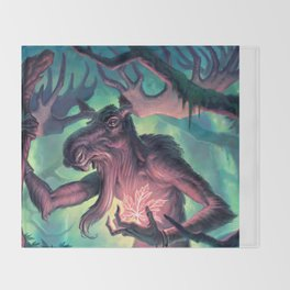 Moose Shamman Throw Blanket