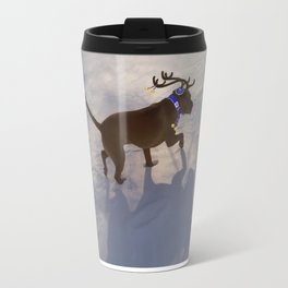 """DREIDEL, DREIDEL, DREIDEL ...Hanukkah PLaY-Do'LPH"" from the photo series, ""My dog, PLaY-DoH"" Travel Mug"