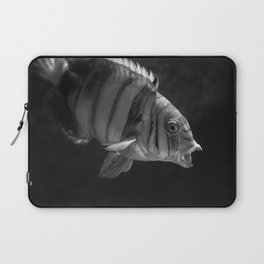 Clown Fish (Black and White) Laptop Sleeve