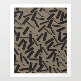 3D X Pattern Art Print