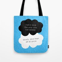 tfios Tote Bags featuring TFiOS Quote by royaltyblood