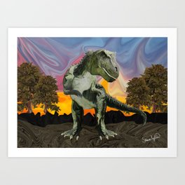 Tyrannosaurus Rex at the Twilight Hour Art Print