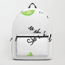 She Believed She Could So She Had a Margarita Backpack