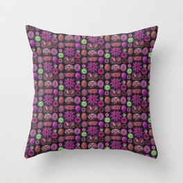 Ernst Haeckel Ascidiae Sea Squirts in Fuchsia Throw Pillow