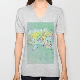 watercolor cat Unisex V-Neck