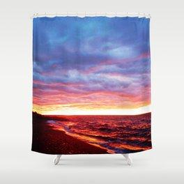 Sunset Saturation Shower Curtain