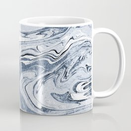 Kiyomi - spilled ink japanese monoprint marble paper marbling art print cell phone case with marble Coffee Mug