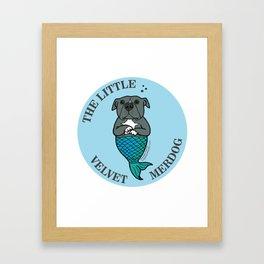 The Little Velvet Merdog Framed Art Print