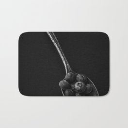 Silver Spoonful Black and White Bath Mat