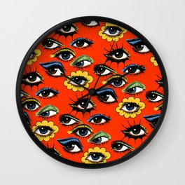 60s Eye Pattern Wall Clock