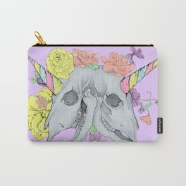 two-headed unicorn skeleton pastel goth Carry-All Pouch