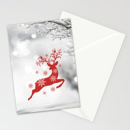 Vintage deers. Merry Christmas! Stationery Cards
