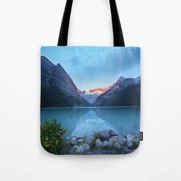 Mountains lake Tote Bag