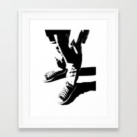 indie Framed Art Prints featuring Indie Rock by alex lodermeier