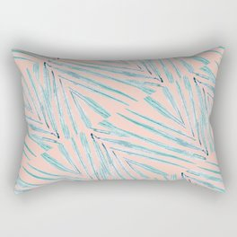 Palm Leaves Coral Rectangular Pillow