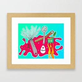#110: Kitchen Appliances Go Rogue Framed Art Print