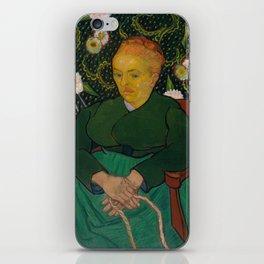 Vincent van Gogh - La Berceuse (Woman Rocking a Cradle; Augustine-Alix Pellicot Roulin, 1851–1930) iPhone Skin