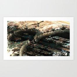 CRATER COLONY Art Print