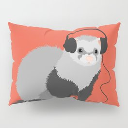 Music Loving Ferret Pillow Sham