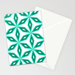 Diamonds and flowers Stationery Cards
