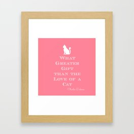 Dickens Cat Quote Framed Art Print