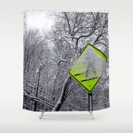 Xing path Shower Curtain