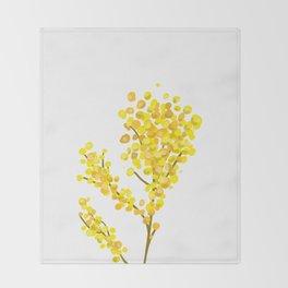 Mimosa 1 Throw Blanket