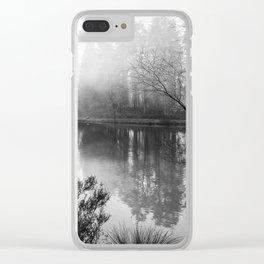 Misty Mallards Pike in Monochrome Clear iPhone Case