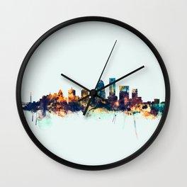 Louisville Kentucky City Skyline Wall Clock