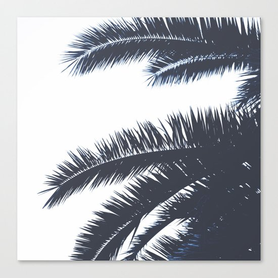 Palm Tree leaves abstract III Canvas Print