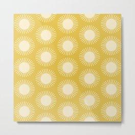 Golden Sun Pattern III Metal Print