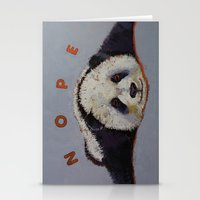 nope Stationery Cards featuring Nope by Michael Creese