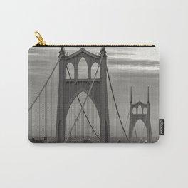 St. John's Bridge - B + W Carry-All Pouch