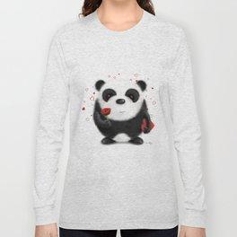Valentine's Panda by dana alfonso Long Sleeve T-shirt