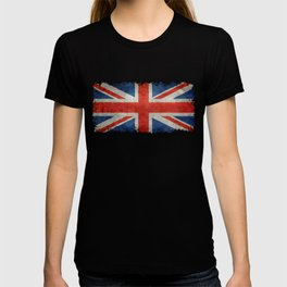 British flag of the UK, retro style T-shirt