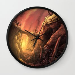The Trenches of World War One (WW1) Wall Clock