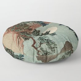 Saruhashi Bridge in Kai Province Japan Floor Pillow