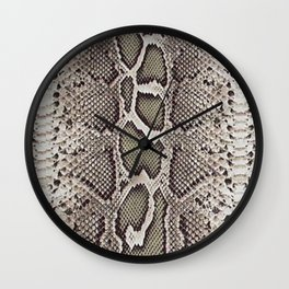Faux Boa Constrictor Snake Skin Design Wall Clock