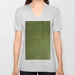 Alligator Skin Unisex V-Neck