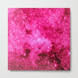 GALaxY Hot Pink Metal Print