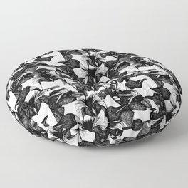 just penguins black white Floor Pillow