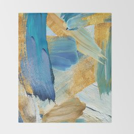 Easterly Abstract Throw Blanket