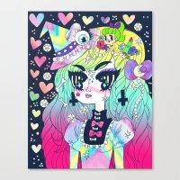 goth Canvas Prints featuring Confetti Goth by prism0lly