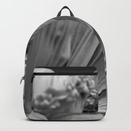 The Veiled Vestal Virgins marble sculpture by Raffaelo Mont black and white photograph Backpack