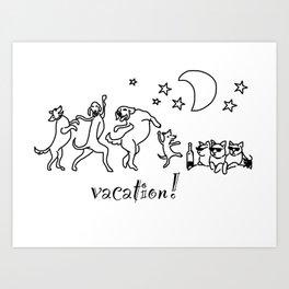 Animal Party Art Print