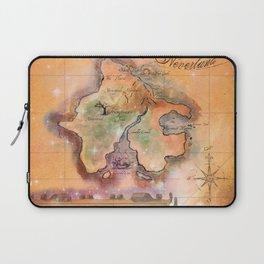 Never Land Map Laptop Sleeve