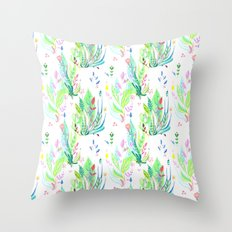 Plants In My Garden Throw Pillow